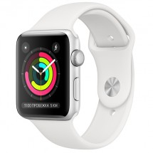 Смарт-часы Apple Watch S3 42mm Silver Al/White Sport Band (MTF22RU/A)