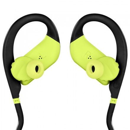 Спортивные наушники Bluetooth JBL Endurance Dive Black/Lime (JBLENDURDIVEBNL)
