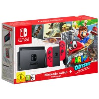 Игровая приставка Nintendo Switch Red Super Mario Odyssey Bundle