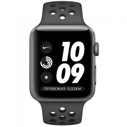 Смарт-часы Apple Watch S3 Nike+ 38mm SpaceGrey Al/Black Sport Band