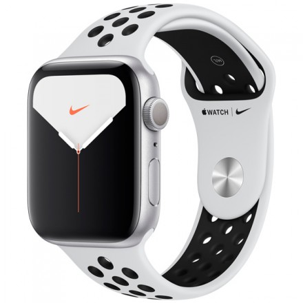Смарт-часы Apple Watch S5 Nike+ 44mm Silver Sport Band (MX3V2RU/A)